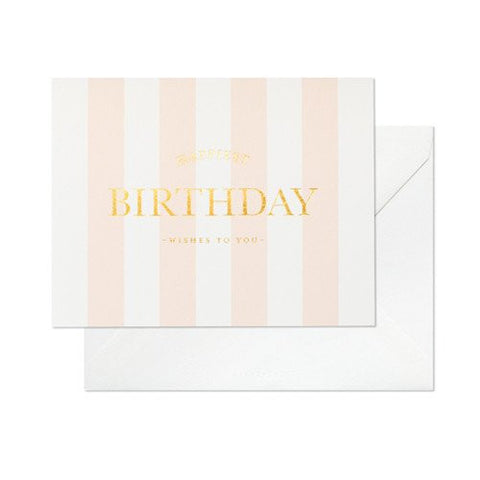Happiest Birthday Stripe Card by Sugar Paper