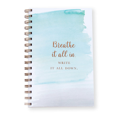 Breathe It In Notebook by Oh My Word Paperie