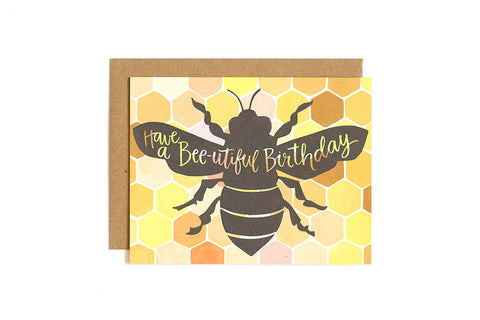 Have a Bee-utiful Birthday Card by 1 Canoe 2