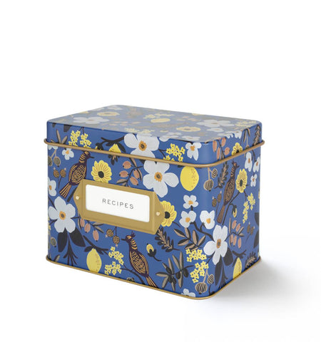 Capri Tin Recipe Box by Rifle Paper Co