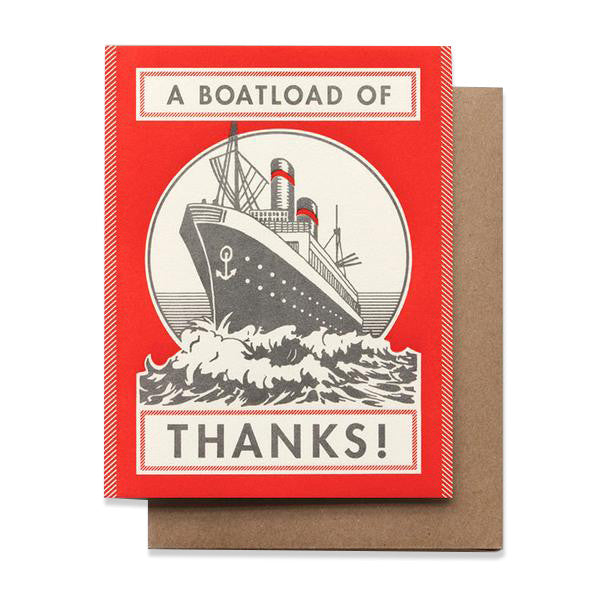 A Boatload of Thanks Card by Hammerpress