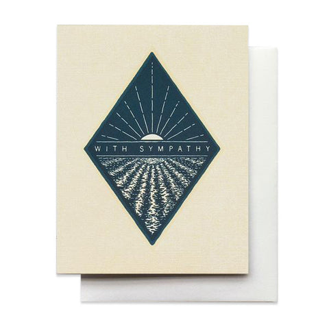 With Sympathy Blue Diamond Card by Hammerpress