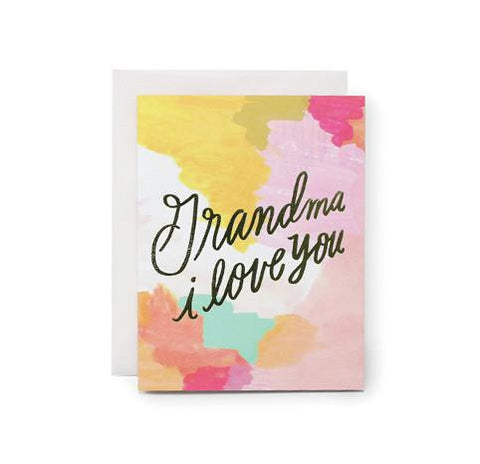 Grandma I Love You Card by Moglea