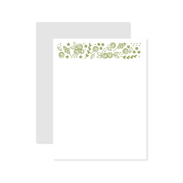 Floral Flat Note by Oh My Word Paperie