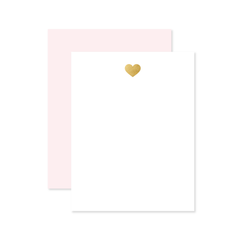 Heart Flat Note by Oh My Word Paperie