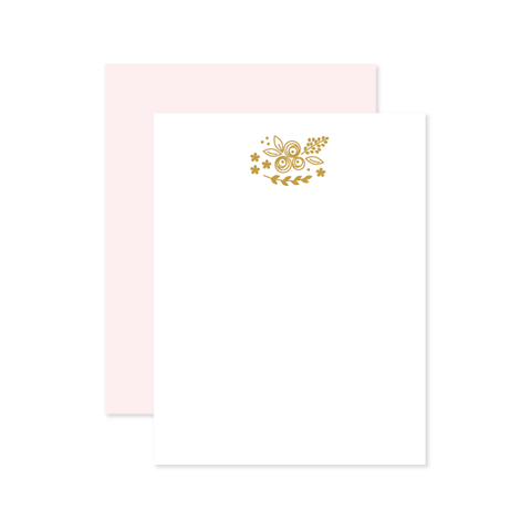 Bouquet Flat Note by Oh My Word Paperie