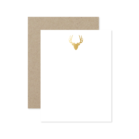 Deer Flat Note by Oh My Word Paperie
