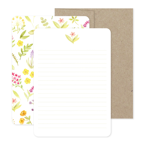 Wildflower Stationery Set by Oh My Word Paperie