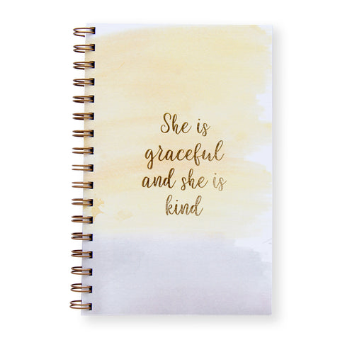 She Is Graceful Notebook by Oh My Word Paperie
