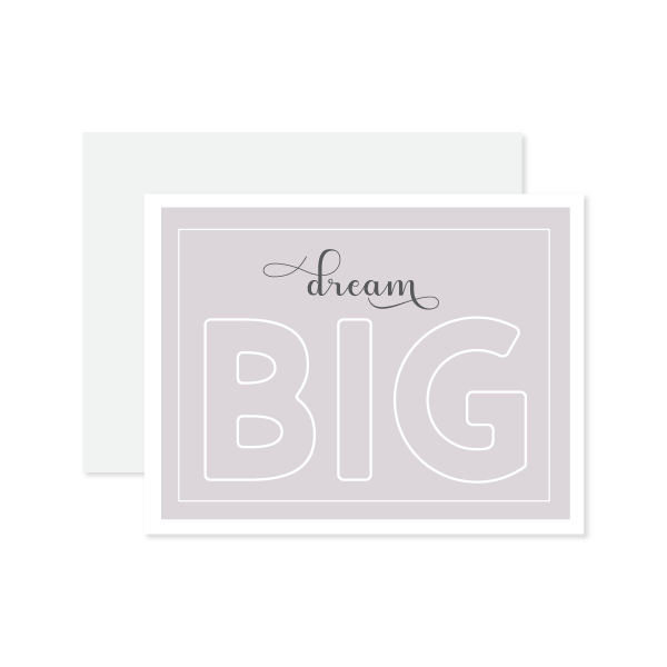 Dream Big Card by Oh My Word Paperie