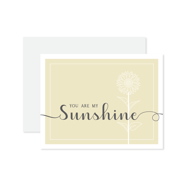 You Are My Sunshine Card by Oh My Word Paperie