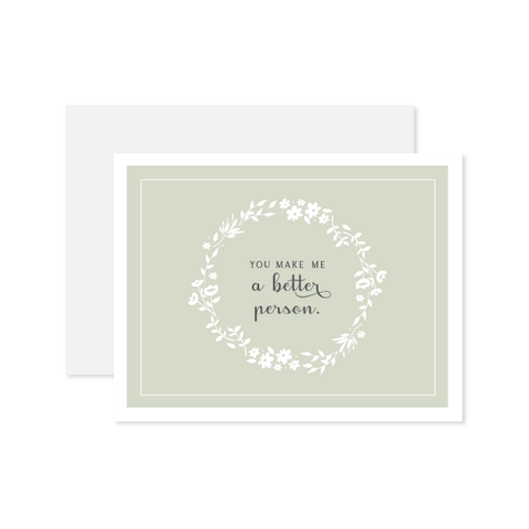 Better Person Card by Oh My Word Paperie