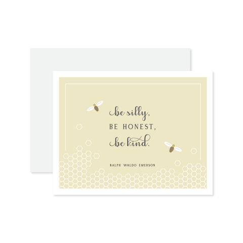 Be Silly, Be Honest Card by Oh My Word Paperie