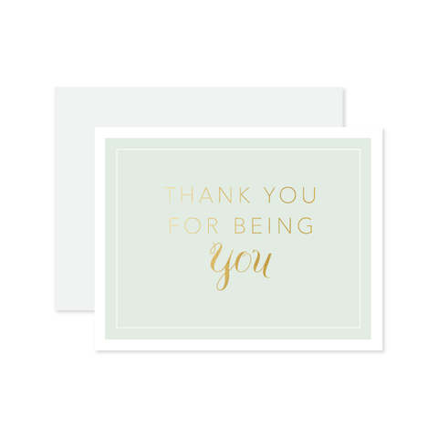 Thank You For Being You Card by Oh My Word Paperie