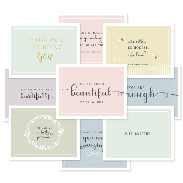 Pastel Encouragement Assorted Boxed Set by Oh My Word Paperie