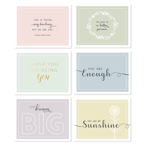 Pastel Encouragement Assorted Boxed Set A by Oh My Word Paperie