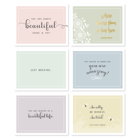 Pastel Encouragement Assorted Boxed Set B by Oh My Word Paperie