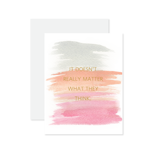 It Doesn't Matter Card by Oh My Word Paperie