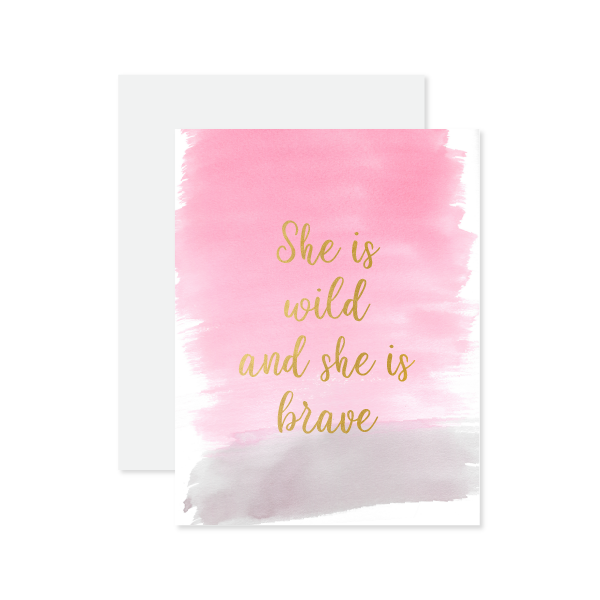 She Is Wild Card by Oh My Word Paperie