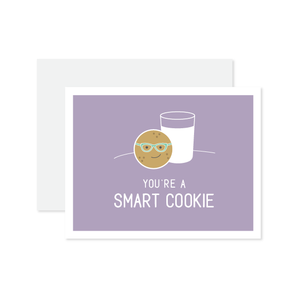 Smart Cookie Card by Oh My Word Paperie