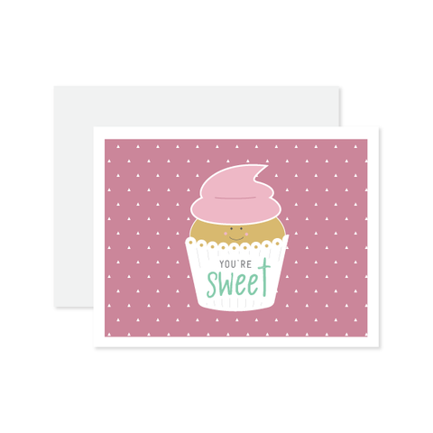 You're Sweet Card by Oh My Word Paperie