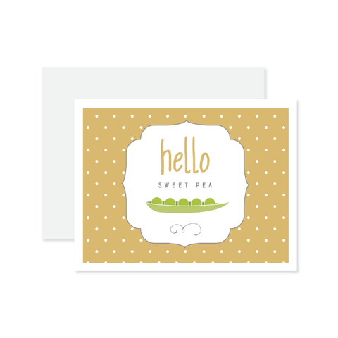 Hello Sweet Pea Card by Oh My Word Paperie