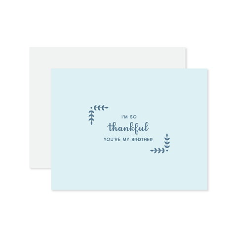 Thankful You're My Brother Card by Oh My Word Paperie