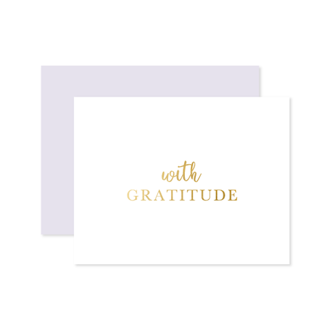 With Gratitude Card by Oh My Word Paperie