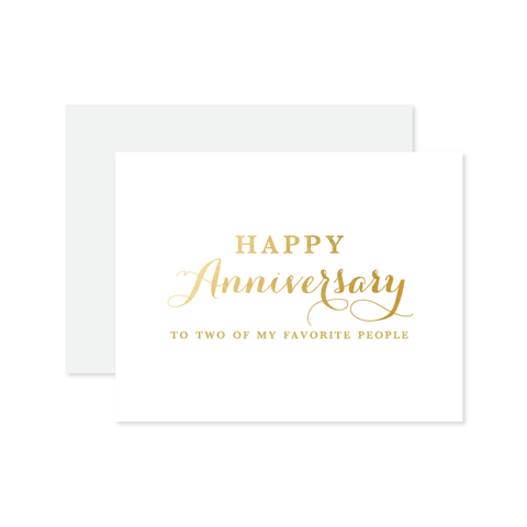 Anniversary To My Faves Card by Oh My Word Paperie