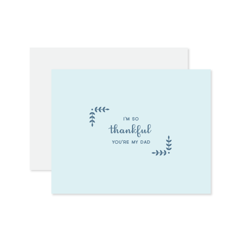 Thankful You're My Dad Card by Oh My Word Paperie