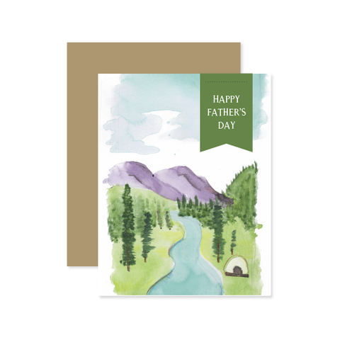 Father's Day Landscape Card by Oh My Word Paperie