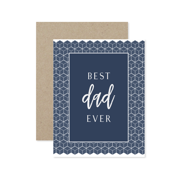 Best Dad Ever Card by Oh My Word Paperie