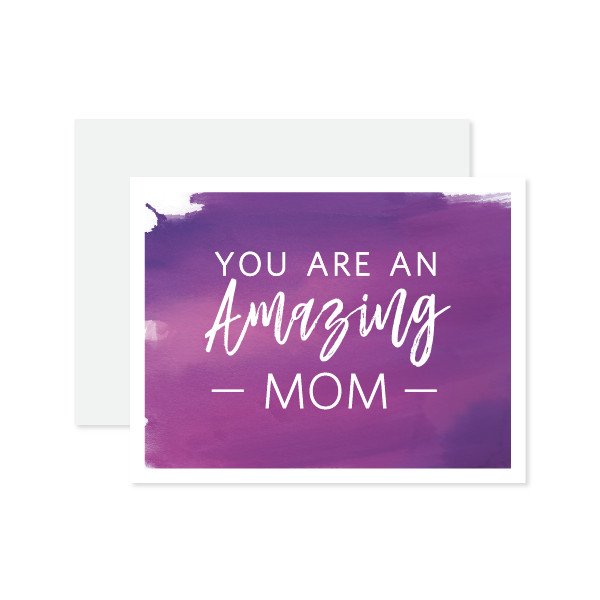 Amazing Mom Card by Oh My Word Paperie