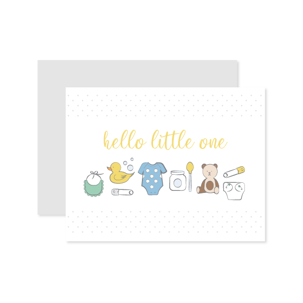 Hello Little One Card by Oh My Word Paperie