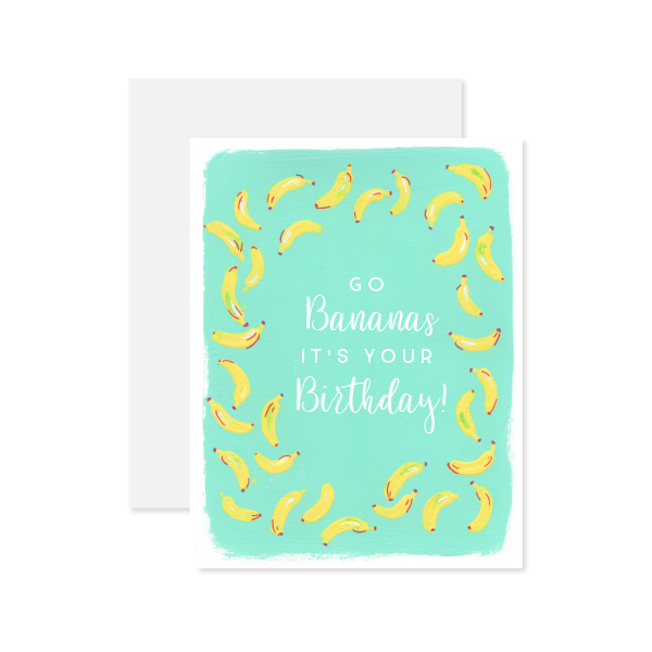 Go Bananas Birthday Card by Oh My Word Paperie