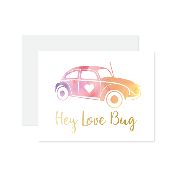 Hey Love Bug Card by Oh My Word Paperie
