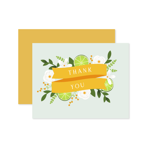 Thank You Citrus Card by Oh My Word Paperie