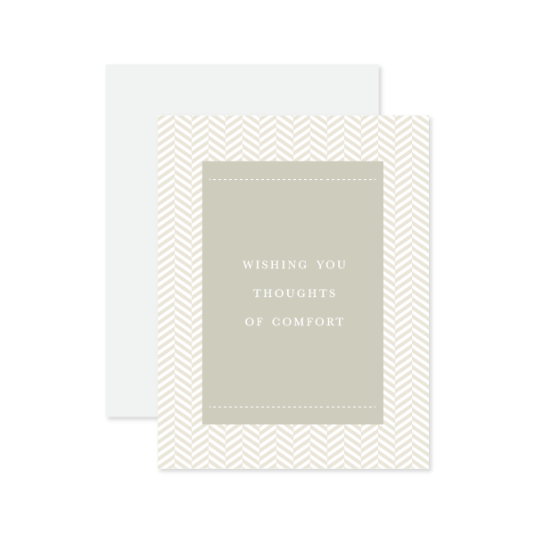 Thoughts Of Comfort Card by Oh My Word Paperie