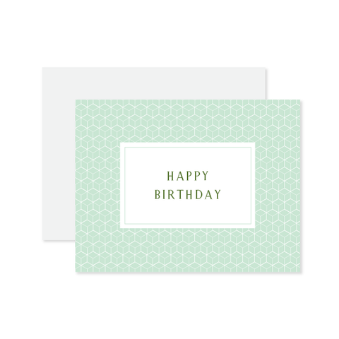 Happy Birthday Cube Card by Oh My Word Paperie