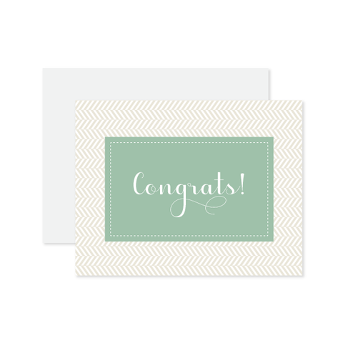 Congrats Herringbone Card by Oh My Word Paperie