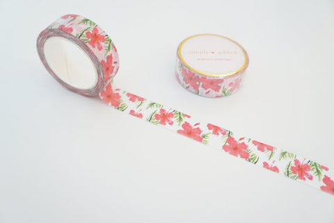 Hibiscus and Palm Washi Tape by Simply Gilded