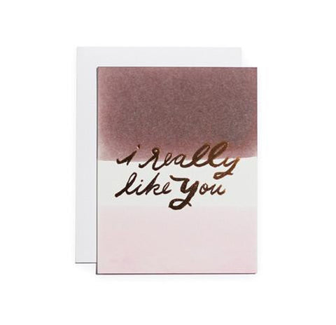I Really Like You Card by Moglea