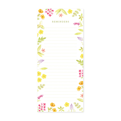 Wildflower Notepad by Oh My Word Paperie