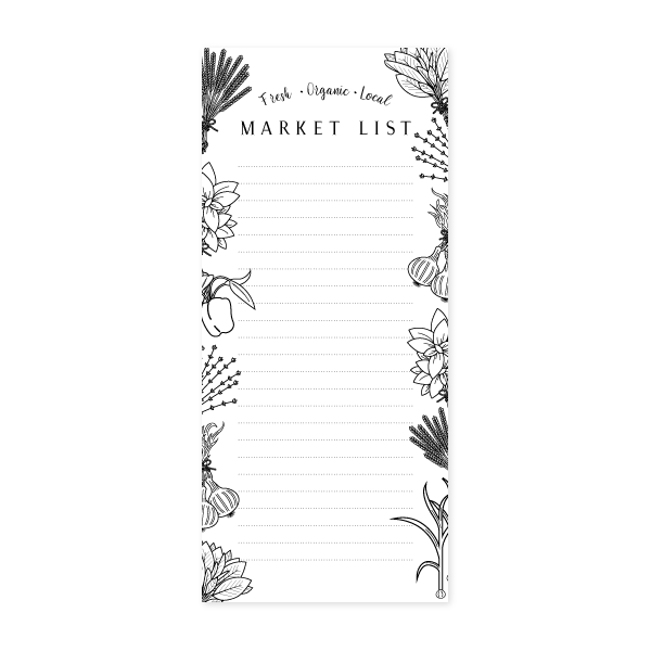 Market Notepad by Oh My Word Paperie
