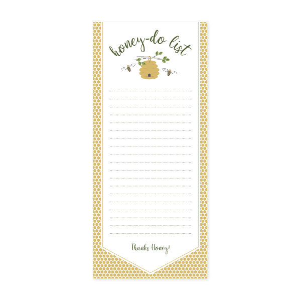 Honey-Do Notepad by Oh My Word Paperie