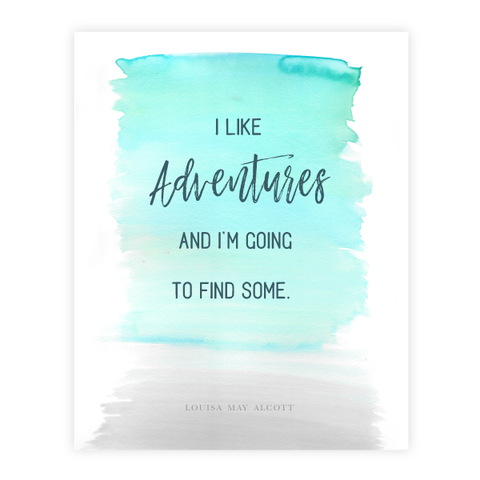 I Like Adventures Print by Oh My Word Paperie