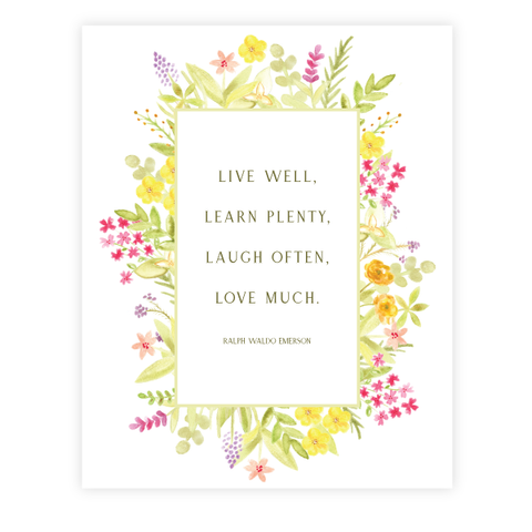 Love Much Print by Oh My Word Paperie