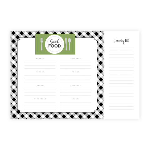 Good Food Meal Planner by Oh My Word Paperie