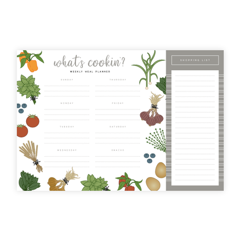 What's Cookin' Meal Planner by Oh My Word Paperie