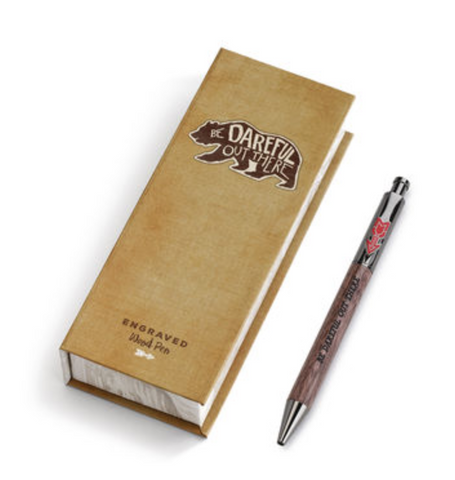 Be Dareful Out There Wooden Engraved Pen by Demdaco